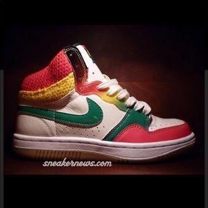 🇯🇲NIKE COURT FORCE Hi's-Jamaica Reggae Rasta🇯🇲